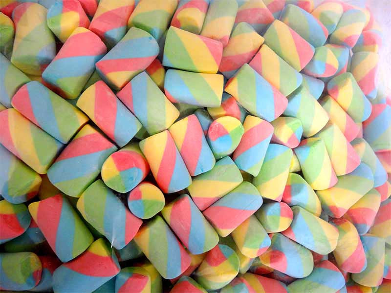 Lolliland Marshmallow Twists - Rainbow, by Lolliland,  and more Confectionery at The Professors Online Lolly Shop. (Image Number :13235)