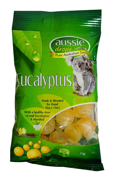 Aussie Drops - Eucalyptus Drops and more Confectionery at The Professors Online Lolly Shop. (Image Number :11235)