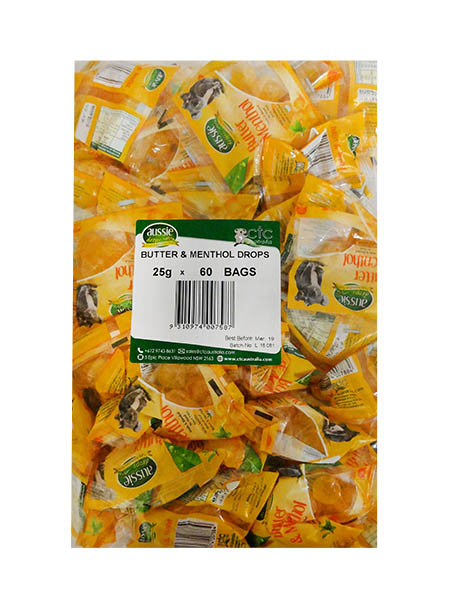 Aussie Drops - Butter and Menthol Drops and more Confectionery at The Professors Online Lolly Shop. (Image Number :11228)