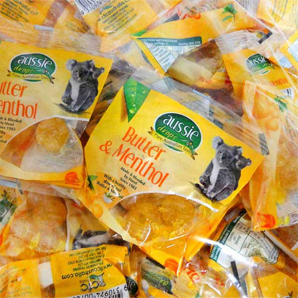 Aussie Drops - Butter and Menthol Drops and more Confectionery at The Professors Online Lolly Shop. (Image Number :11229)