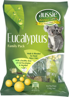 Aussie Drops - Eucalyptus Sharepack 6 x 25g bags and more Confectionery at The Professors Online Lolly Shop. (Image Number :10972)