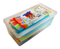 TNT Sour Straps Snack Pack - Multi-Coloured  (60pc - 400g tub)