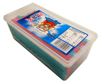TNT Sour Straps Snack Pack - Blue Raspberry (60pc - 400g tub)