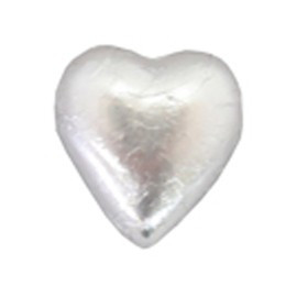 Belgian Milk Chocolate Hearts - Matt Silver and more Confectionery at The Professors Online Lolly Shop. (Image Number :11058)