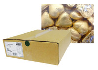 Belgian Milk Chocolate Hearts - Matt Gold (5kg Box)