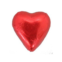 Belgian Milk Chocolate Hearts - Red and more Confectionery at The Professors Online Lolly Shop. (Image Number :11064)