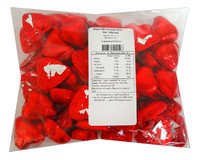 Belgian Milk Chocolate Hearts - Red  (500g Bag)