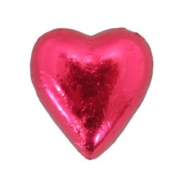Belgian Milk Chocolate Hearts - Bright Pink and more Confectionery at The Professors Online Lolly Shop. (Image Number :11061)