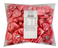 Belgian Milk Chocolate Hearts - Rose (500g Bag)