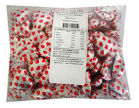 Belgian Milk Chocolate Hearts - Hot Pink Hearts On Silver(500g Bag)
