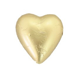 Belgian Milk Chocolate Hearts - Matt Gold and more Confectionery at The Professors Online Lolly Shop. (Image Number :11050)