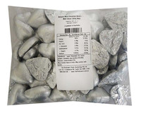 Belgian Milk Chocolate Hearts - Matt Silver (500g Bag)
