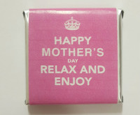 Mothers Day Belgian Chocolate - Bulk - Keep Calm Motif Individually Wrapped (500pc or 2.6kg box)