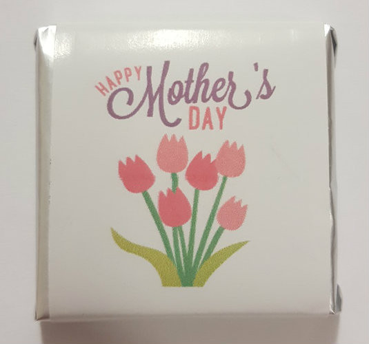 Mothers Day Belgian Chocolate - Bulk - Tulip Motif and more Confectionery at The Professors Online Lolly Shop. (Image Number :11069)