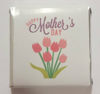 Mothers Day Belgian Chocolate - Bulk - Tulip Motif Individually Wrapped and more Confectionery at The Professors Online Lolly Shop. (Image Number :11069)