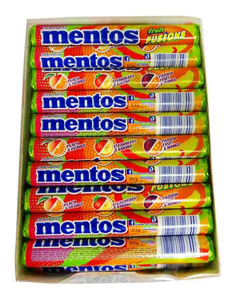 Mentos - Fruit Fuisons, by Perfetti Van Melle,  and more Confectionery at The Professors Online Lolly Shop. (Image Number :11246)