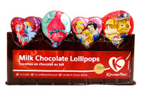 Kinnerton Milk Chocolate lollipops - assorted (22g x 36)
