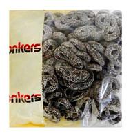 Donkers Dutch Licorice -  Dropkrakelingen  (Pretzel) (1kg bag)