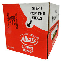 Allens Snakes Alive (12 x 200g hang sell bags)
