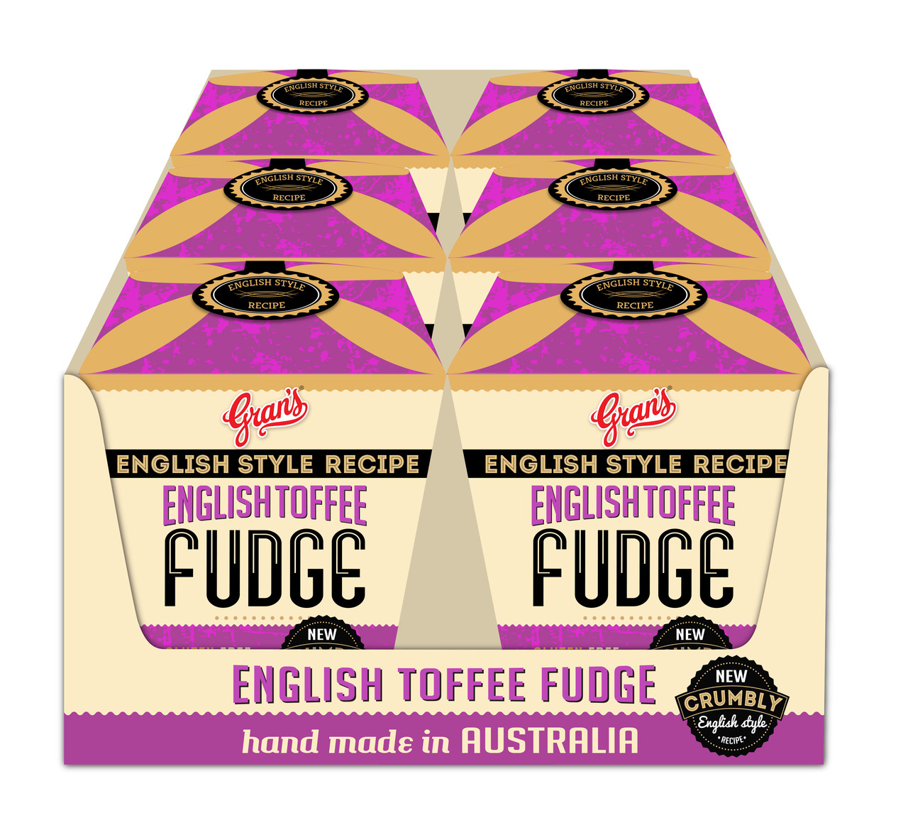Gran s Fudge Bites - English Toffee Fudge, by Grans,  and more Confectionery at The Professors Online Lolly Shop. (Image Number :11173)