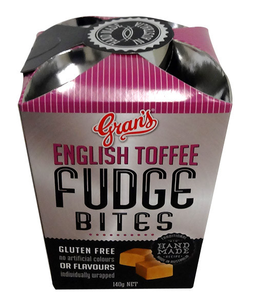 Gran s Fudge Bites - English Toffee Fudge, by Grans,  and more Confectionery at The Professors Online Lolly Shop. (Image Number :13620)