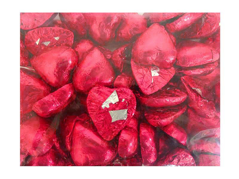 Belgian Milk Chocolate Hearts - Fuschia and more Confectionery at The Professors Online Lolly Shop. (Image Number :12333)