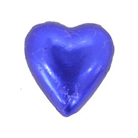 Belgian Milk Chocolate Hearts - Dark Blue and more Confectionery at The Professors Online Lolly Shop. (Image Number :11196)