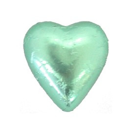 Belgian Milk Chocolate Hearts - Light Green and more Confectionery at The Professors Online Lolly Shop. (Image Number :11200)