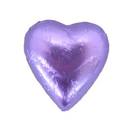 Belgian Milk Chocolate Hearts - Mauve and more Confectionery at The Professors Online Lolly Shop. (Image Number :11206)