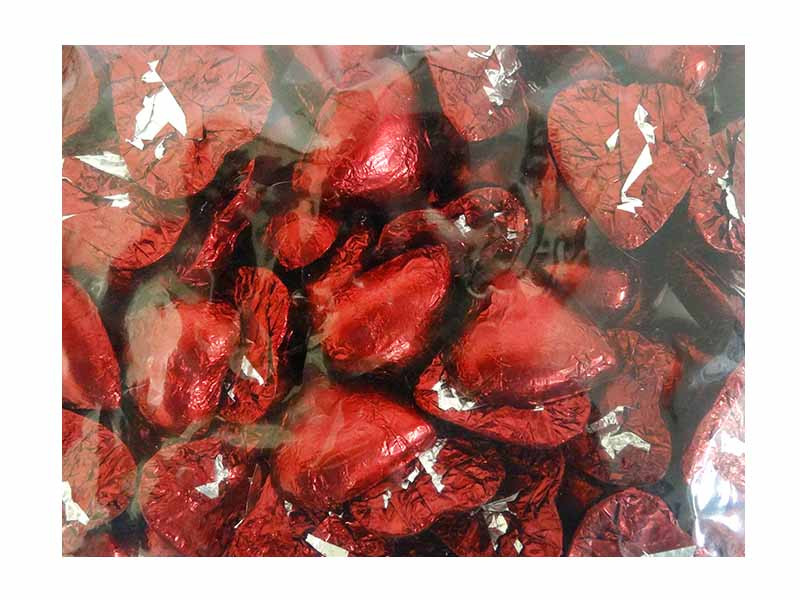Belgian Milk Chocolate Hearts - Burgundy and more Confectionery at The Professors Online Lolly Shop. (Image Number :12309)