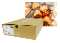 Belgian Milk Chocolate Hearts - Orange (5kg Box)