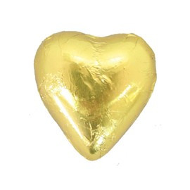 Belgian Milk Chocolate Hearts - Gold and more Confectionery at The Professors Online Lolly Shop. (Image Number :11278)