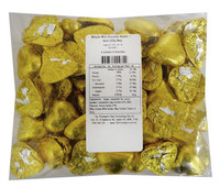 Belgian Milk Chocolate Hearts - Gold (500g Bag)