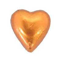 Belgian Milk Chocolate Hearts - Orange (500g Bag)