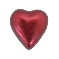 Belgian Milk Chocolate Hearts - Burgundy (500g Bag)