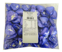 Belgian Milk Chocolate Hearts - Mauve (500g Bag)