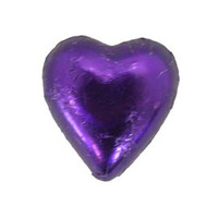 Belgian Milk Chocolate Hearts - Purple (500g Bag)