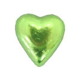 Belgian Milk Chocolate Hearts - Lime and more Confectionery at The Professors Online Lolly Shop. (Image Number :11289)