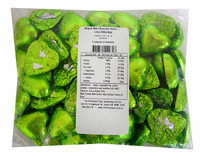 Belgian Milk Chocolate Hearts - Lime (500g Bag)