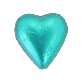 Belgian Milk Chocolate Hearts - Teal and more Confectionery at The Professors Online Lolly Shop. (Image Number :11292)