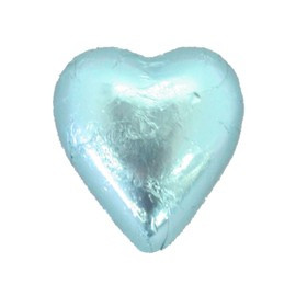 Belgian Milk Chocolate Hearts - Light Blue and more Confectionery at The Professors Online Lolly Shop. (Image Number :11296)