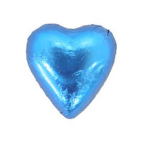 Belgian Milk Chocolate Hearts - Blue (500g Bag)