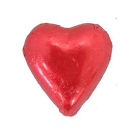 Belgian Milk Chocolate Hearts - Fuschia and more Confectionery at The Professors Online Lolly Shop. (Image Number :11299)