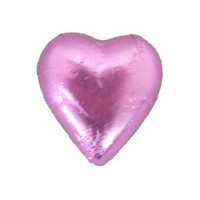 Belgian Milk Chocolate Hearts - Light Pink (500g Bag)
