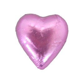 Belgian Milk Chocolate Hearts - Light Pink and more Confectionery at The Professors Online Lolly Shop. (Image Number :11305)