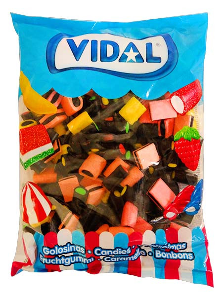 Vidal Licorice Allsorts, by vidal,  and more Confectionery at The Professors Online Lolly Shop. (Image Number :11631)