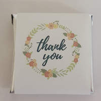 Belgian Wrapped Chocolate - Bulk - Rustic/Vintage Thank You (500pc or 2.6kg Box)