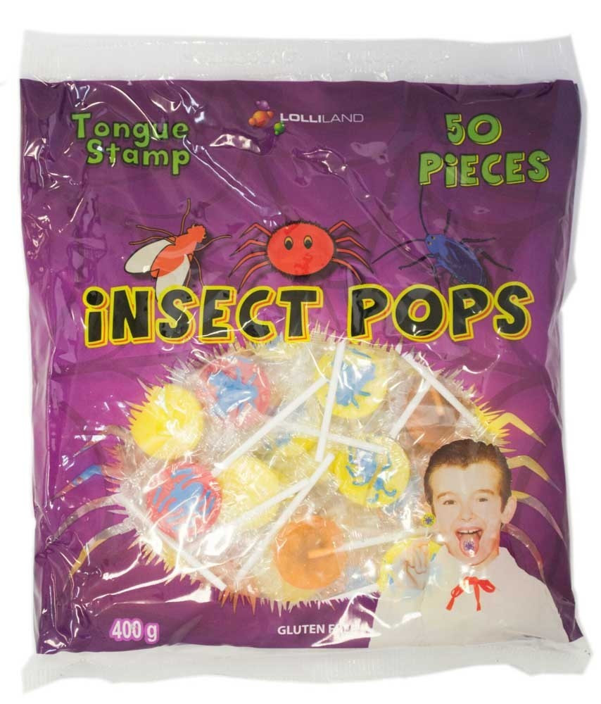 Insect Pops - Tongue Tattoo at The Professors Online Lolly Shop. (Image Number :11402)