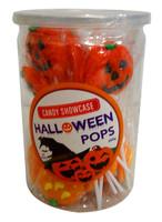 Candy Showcase Halloween Pops (pumpkin)  (24 x 12g pops)
