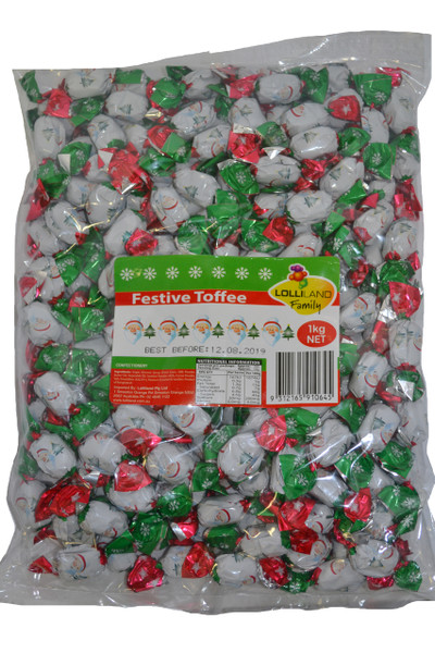 Festive Toffees and more Confectionery at The Professors Online Lolly Shop. (Image Number :11841)